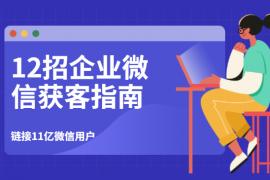 12招企业微信获客指南:链接11亿微信用户